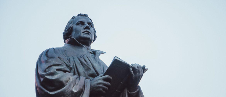 Martin Luther Statue auf dem Anger Erfurt