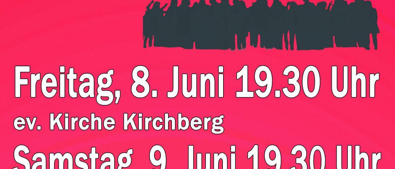 PLAKAT. KONZERT Hits der 30er bisheute 8. und 9. Juni.DINA5